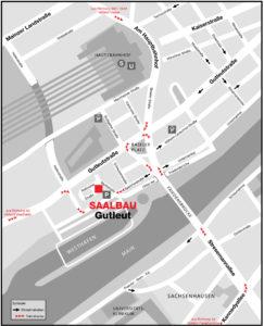 Anfahrtskizze Saalbau